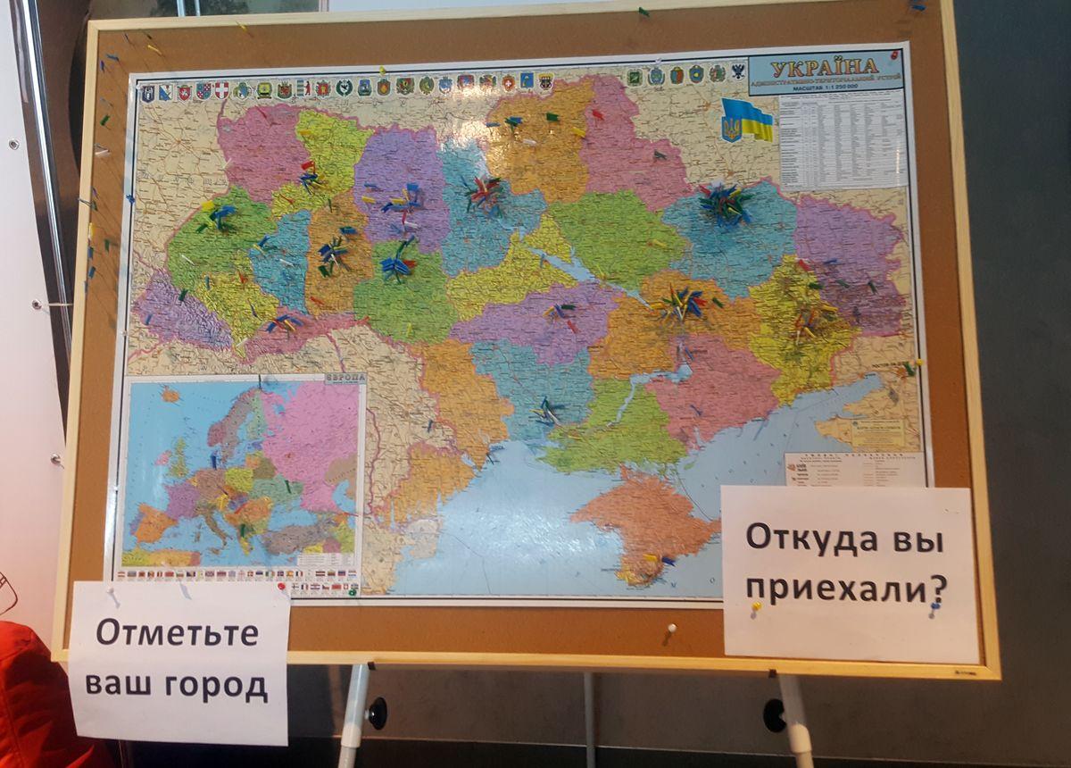 .NET Fest 2017 Карта участников